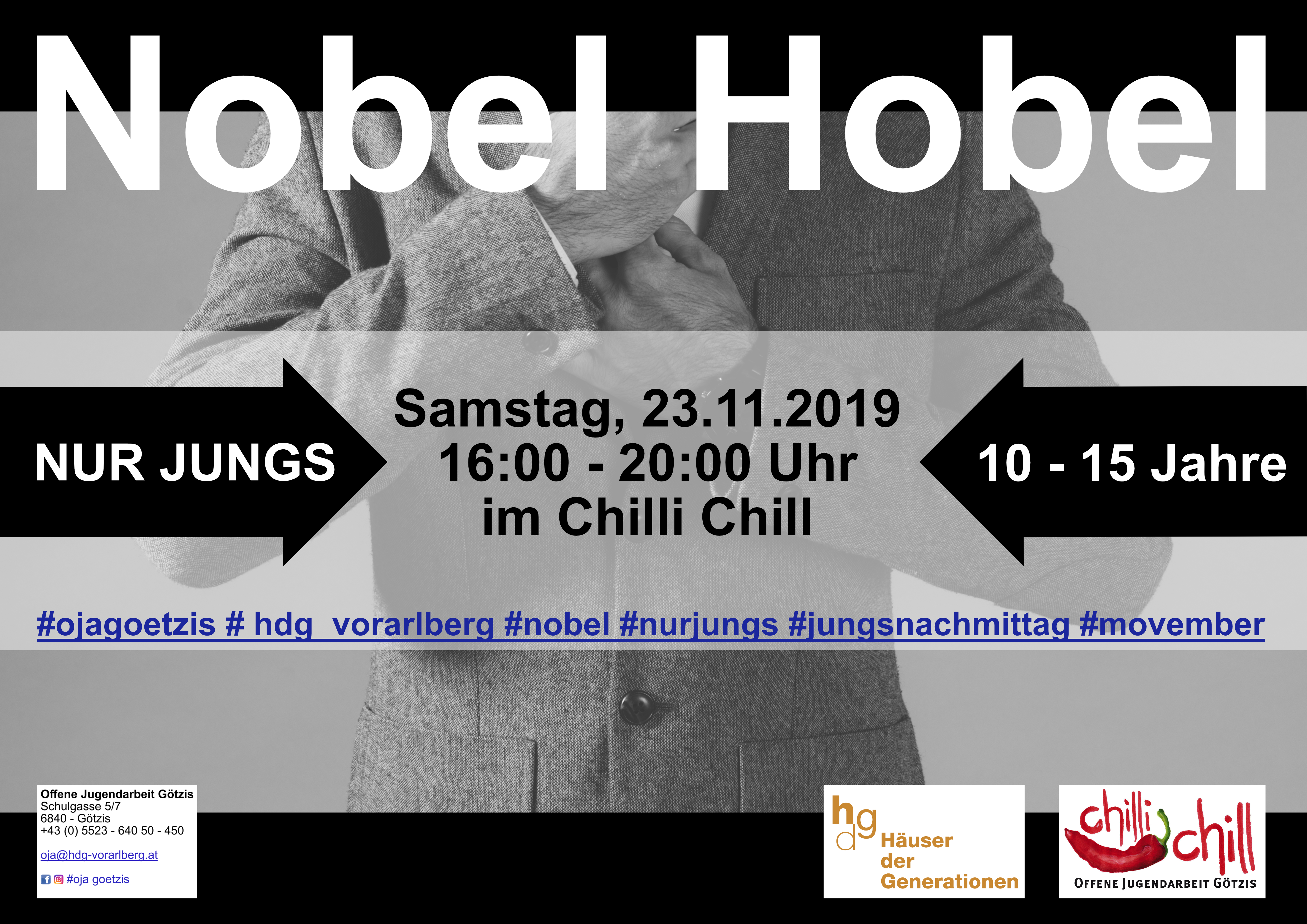 Nobel Hobel – Jungs*nachmittag
